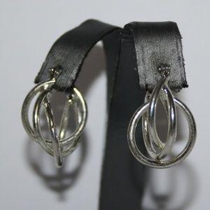 Fun silver hoop earrings